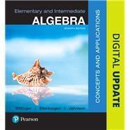 Elementary and Intermediate Algebra Concepts and  Applications by Bittinger, Marvin L.; Ellenbogen, David J.; Johnson, Barbara L., 9780134462707