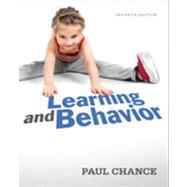 Learning and Behavior by Chance, Paul, 9781111832773