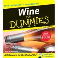 Wine for Dummies by McCarthy, Ed, 9780061672781