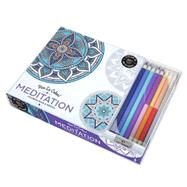 Vive Le Color! Meditation (Adult Coloring Book and Pencils) by Abrams Noterie, 9781419722868