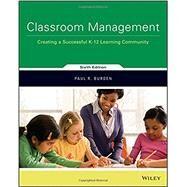 Classroom Management by Burden, Paul R., 9781119352891