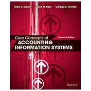 Core Concepts of Accounting Information Systems by Simkin, Mark G., Ph.D.; Rose, Jacob M., Ph.D.; Norman, Carolyn Strand, Ph.D., 9781118742938