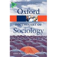 A Dictionary of Sociology by Scott, John; Marshall, Gordon, 9780199533008
