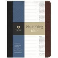 HCSB Notetaking Bible, Black/Brown Bonded Leather by Holman Bible Staff, 9781433643033