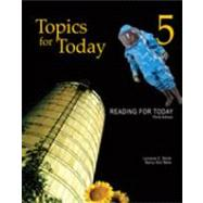 Reading for Today 5: Topics for Today by Mare, Nancy Nici; Smith, Lorraine C., 9781111033040