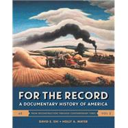 For the Record Volume 2 by Shi, David E.; Mayer, Holly A., 9780393283044