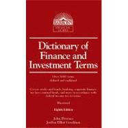 Dictionary of Finance and Investment Terms by Downes, John, 9780764143045