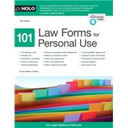 101 Law Forms for Personal Use by Nolo, 9781413323061