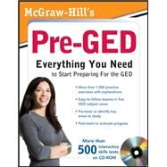 McGraw-Hill's Pre-GED with CD-ROM by Unknown, 9780071703062