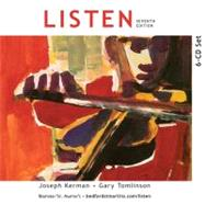 6-CD Set to Accompany Listen by Kerman, Joseph; Tomlinson, Gary, 9780312663094