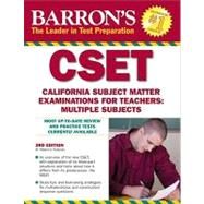 Barron's CSET: California Subject Matter Examinations for Teachers: Multiple Subjects by Postman, Robert D., 9780764143113