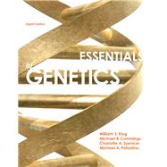 Essentials of Genetics, 8/e by KLUG, 9780321803115