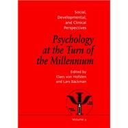 Psychology at the Turn of the Millennium, Volume 2: Social, Developmental and Clinical Perspectives by Backman,Lars, 9781138883147