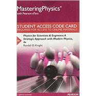 MasteringPhysics with Pearson eText -- Standalone Access Card -- for Physics for Scientists and Engineers A Strategic Approach with Modern Physics by Knight, Randall D., (Professor Emeritus), 9780134083148