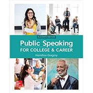 Public Speaking for College and Career by Gregory, Hamilton, 9781260153149