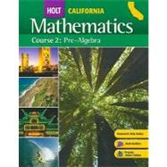 California Holt Mathematics: Pre-Algebra, Course 2 by Jennie M Bennett, 9780030923166