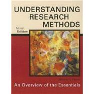 Understanding Research Methods: An Overview of the Essentials by Patten, Mildred L., 9781936523177