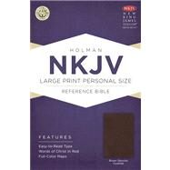 NKJV Large Print Personal Size Reference Bible, Brown Genuine Cowhide by Unknown, 9781433613180