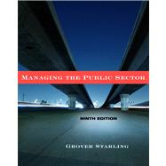 Managing The Public Sector by Starling, Grover, 9780495833192