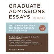 Graduate Admissions Essays, Fourth Edition by ASHER, DONALD, 9781607743217