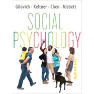 Social Psychology 3E CL W/ EB REG CRD by GILOVICH,THOMAS, 9780393913231
