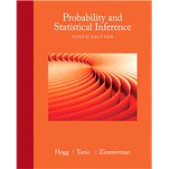 Probability and Statistical Inference by Hogg, Robert V.; Tanis, Elliot; Zimmerman, Dale, 9780321923271