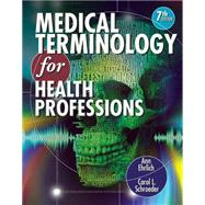 Medical Terminology for Health Professions (with Studyware CD-ROM) by Ehrlich, Ann; Schroeder, Carol L., 9781111543273