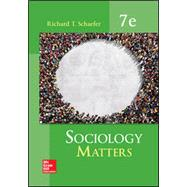 SOCIOLOGY MATTERS by Unknown, 9780077823276
