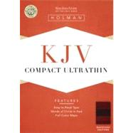 KJV Compact Ultrathin Bible, Mahogany LeatherTouch by Holman Bible Staff, 9781433603297