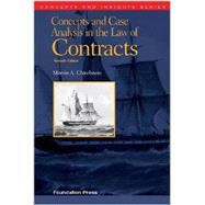Concepts and Case Analysis in the Law of Contracts by Chirelstein, Marvin A., 9781609303303