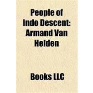 People of Indo Descent : Armand Van Helden by , 9781156223314