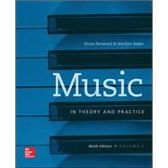 Workbook t/a Music in Theory and Practice, Volume I by Benward, Bruce; Saker, Marilyn, 9780077493318