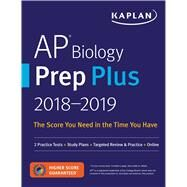 Kaplan AP Biology Prep Plus 2018-2019 by Kaplan, Inc., 9781506203331