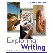 Exploring Writing: Paragraphs and Essays by Langan, John, 9780073533339