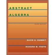 Abstract Algebra, 3rd Edition by David S. Dummit; Richard M. Foote, 9780471433347