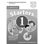 Cambridge Young Learners English Tests Starters 1 Answer Booklet: Examination Papers from the University of Cambridge ESOL Examinations by Cambridge ESOL, 9780521693370