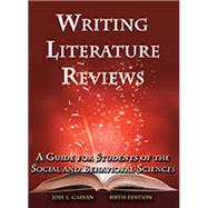 Writing Literature Reviews by Jose L. Galvan, 9781936523375