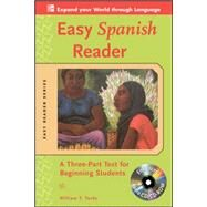 Easy Spanish Reader w/CD-ROM A Three-Part Text for Beginning Students by Tardy, William, 9780071603386