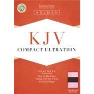 KJV Compact Ultrathin Bible, Pink/Brown LeatherTouch by Holman Bible Staff, 9781433603396