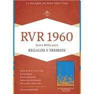 RVR 1960 Biblia para Regalos y Premios, azul océano/papaya símil piel by Unknown, 9781433613432