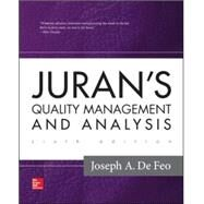 Juran's Quality Management and Analysis by Defeo, Joseph A., 9780073523446