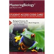 MasteringBiology with Pearson eText -- Standalone Access Card -- for Biological Science by Freeman, Scott; Quillin, Kim; Allison, Lizabeth; Black, Michael; Podgorski, Greg; Taylor, Emily; Carmichael, Jeff, 9780134283463