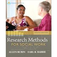 Brooks/Cole Empowerment Series: Research Methods for Social Work by Rubin, Allen; Babbie, Earl R., 9781285173467