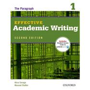 Effective Academic Writing 2e Student Book 1 by Savage, Alice; Shafiei, Masoud, 9780194323468