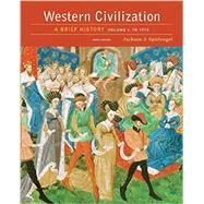Western Civilization: A Brief History, Volume I: To 1715 by Spielvogel/Jackson, 9781305633476