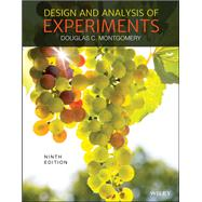 DESIGN & ANALYSIS OF EXPERIMENTS by Unknown, 9781119113478
