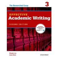 Effective Academic Writing 2e Student Book 3 by Liss, Rhonda; Davis, Jason, 9780194323482