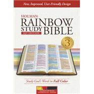 KJV Rainbow Study Bible, Kaleidoscope Black LeatherTouch, Indexed by Holman Bible Staff, 9781433613494