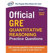 Official GRE Quantitative Reasoning Practice Questions, Second Edition, Volume 1 by Educational Testing Service, 9781259863509