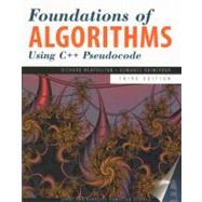 Foundations of Algorithms using C++ Pseudocode, Third Edition by Neapolitan, Richard E., 9780763763541